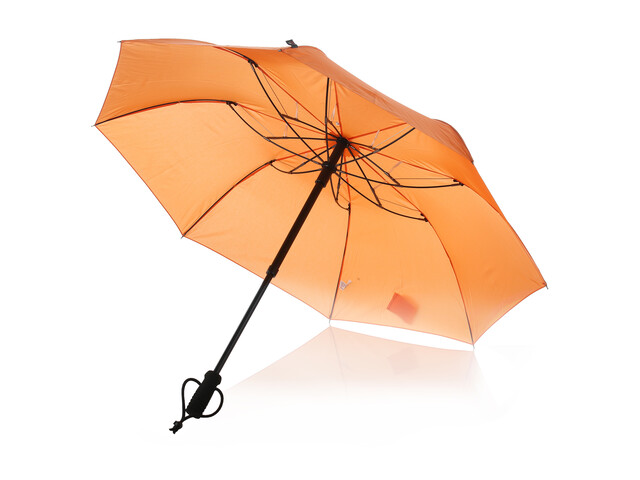 EuroSchirm teleScope handsfree Regenschirm orange